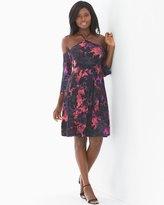 Soma Intimates Soft Jersey Y-Neck Cold Shoulder Short Dress Mesmerize Merlot