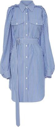 J.W.Anderson Split-Sleeve Striped Shirt-Dress