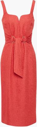 Rebecca Vallance Francesca Tie-front Cloque Dress