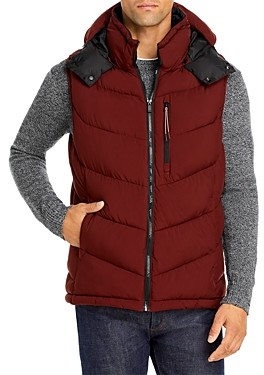 Scotch & Soda Quilted Vest With Detachable Hood