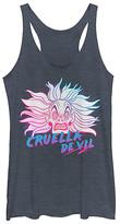 Fifth Sun Women's Tank Tops NAVY - 101 Dalmatians 'Cruella de Vil' Crazy Racerback Tank - Women & Juniors