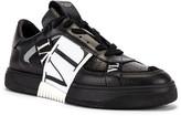 Valentino Low Top Sneaker in Black & White | FWRD