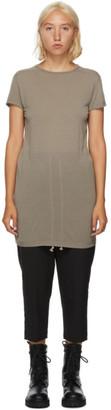 Rick Owens Brown Silk Level T-Shirt