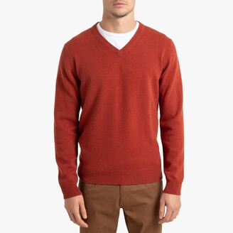 La Redoute Collections V-Neck Lambswool Jumper