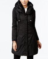 T Tahari Layered Hooded Raincoat