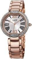 Burgi Women's BUR101RG Crystal Rose-tone Stainless Steel Bracelet Watch