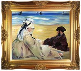 On the Beach by Edouard Manet Framed Painting