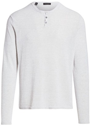 Saks Fifth Avenue COLLECTION Speckled Long Sleeve Henley
