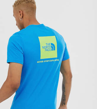 The North Face Red Box t-shirt in blue Exclusive at ASOS