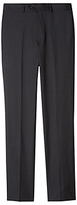 Aquascutum Pick & Pick Wool Trousers, Dark Grey