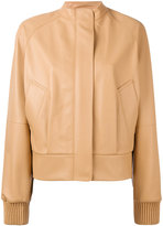 Jil Sander banded collar jacket - women - Leather - 34