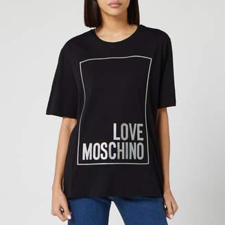 Love Moschino Women's Logo Box T-Shirt