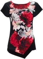 Black Floral Printed Top