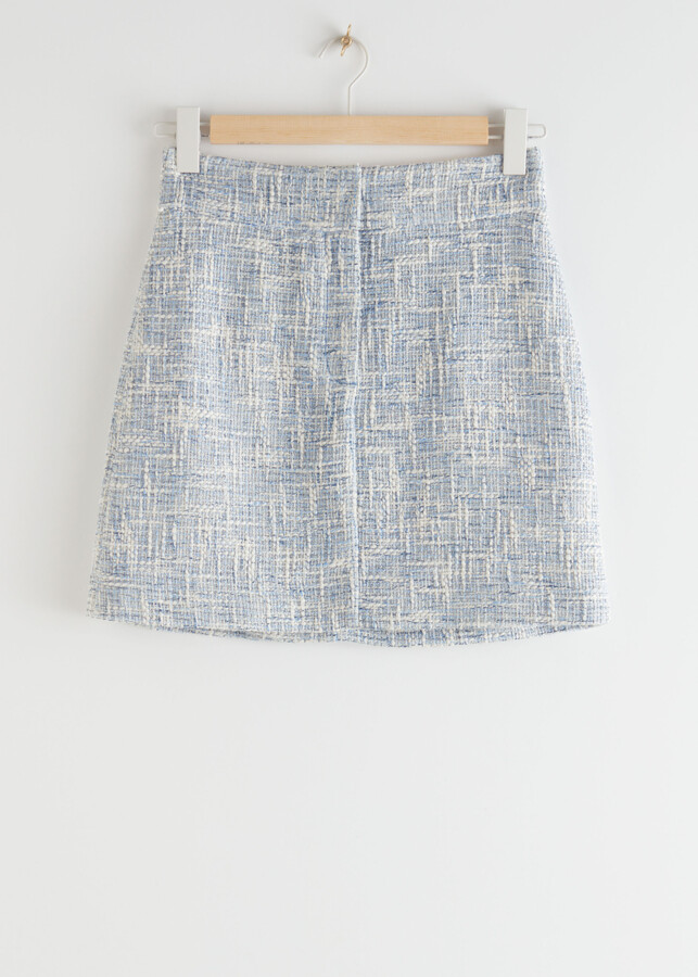 Thumbnail for your product : And other stories Tailored High Waisted Tweed Mini Skirt