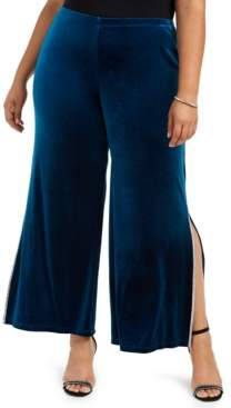 MSK Plus Size Embellished Velvet Pants