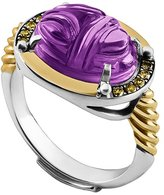 Azza Fahmy Carved Scarab Ring