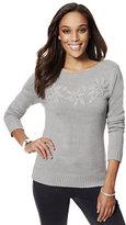 New York & Co. Rhinestone Floral Sweater