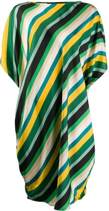 Gianluca Capannolo silk striped oversized dress