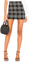 Alice + Olivia Elana Mini Skirt in Black