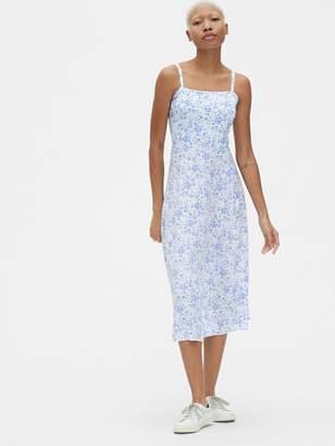 Gap Print Fit and Flare Cami Midi Dress