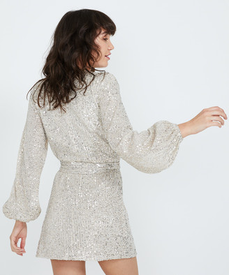 Alice In The Eve Sparkle & Fade Sequin Dress Gold