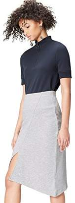find. Women's Skirt with Asymmetric Split Hem in Marled Sweater Knee Lenght,(Manufacturer size: Small)