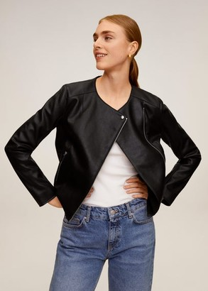 MANGO Biker jacket black - XXS - Women