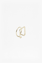 French Connection Geo Thin Circle Square Ring