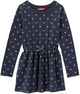 Joe Fresh Kid Girls' Glitter Print Dress, Navy Mix (Size XL)