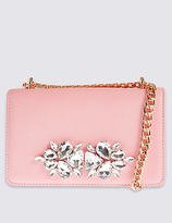M&S Collection Faux Leather Embellished Shoulder Bag