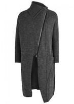 Crea Concept Grey Melangé Knitted Cardigan