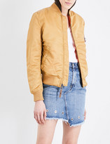 Gold Bomber Jacket - ShopStyle