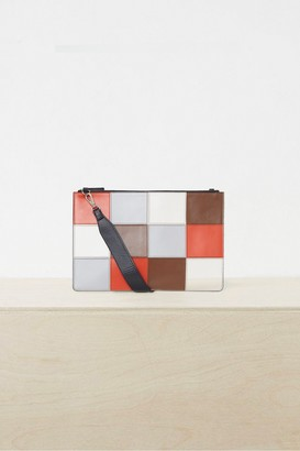 French Connection Metz Leather Patchwork Shoulder Bag
