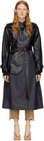 Sportmax Black and Navy Khat Trench Coat