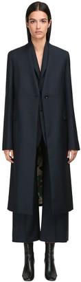 Jil Sander Wool & Mohair Single Breasted Coat