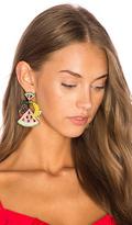 Elizabeth Cole Fruit Salad Statement Earrings