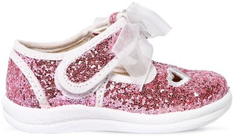 MonnaLisa Glittered Canvas Sneakers