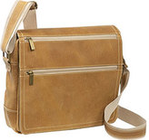 David King 6155 Distressed Double Zip Flap Messenger