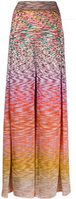 Missoni Flared Leg Ombre Knit Trousers