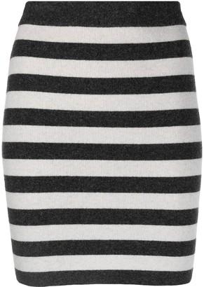 Kenzo Striped Knitted Mini Skirt