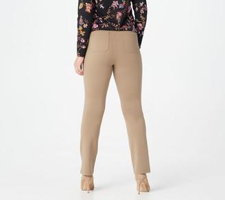 Susan Graver Regular Ponte Straight Leg Pull-On Pants