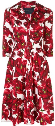 Samantha Sung Abel tulip-print shirt dress