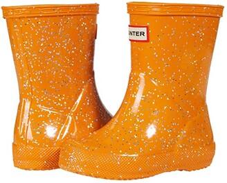 Hunter Original First Classic Giant Glitter Wellington Boots (Toddler/Little Kid) (Thrift Pink) Kid's Shoes