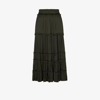 Ulla Johnson Carina high-waisted tiered skirt