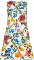 Dolce & Gabbana Floral printed cotton drill dress