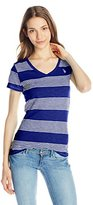 U.S. Polo Assn. Juniors' Striped V-Neck Slub T-Shirt