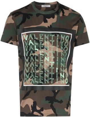 Valentino multi logo camouflage T-shirt