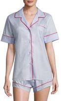MAISON DU SOIR Denmark Short Sleeve Pajama Top