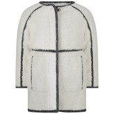 Chloé ChloeGirls Ivory Faux Fur Coat