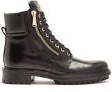 Balmain Lace-up leather ankle boots